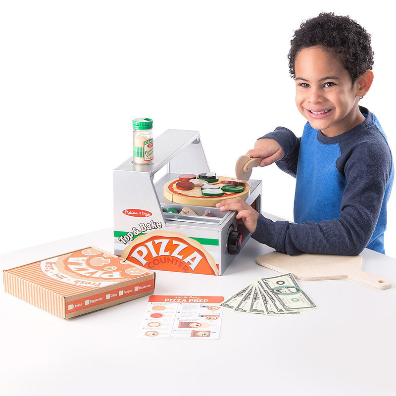 Melissa & Doug: drewniana pizzeria do zabawy Top & Bake Pizza Counter