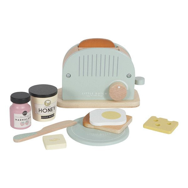 Little Dutch: drewniany toster Toaster Set