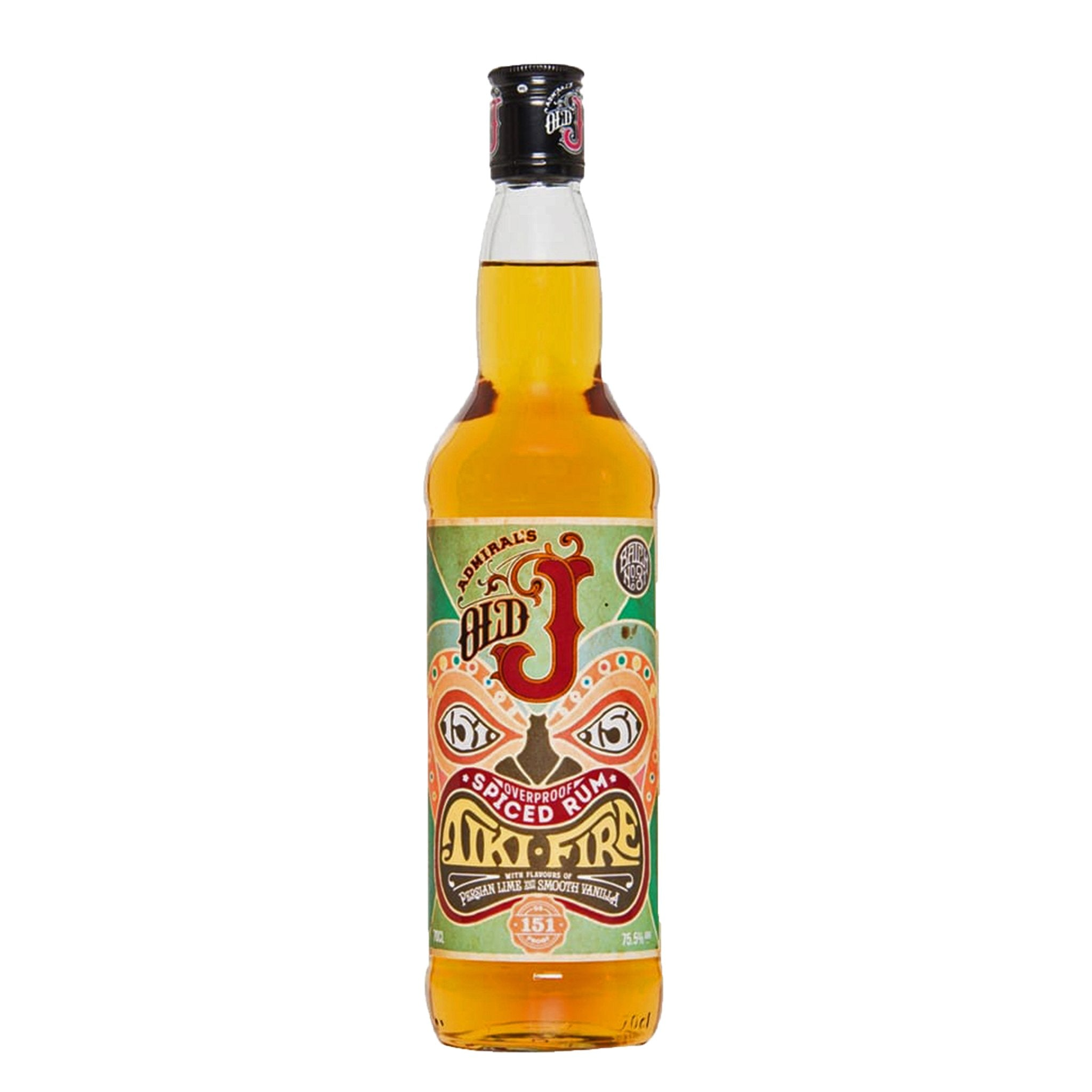 Old J Tiki Fire Spiced Rum, Rum by Drinks Shop