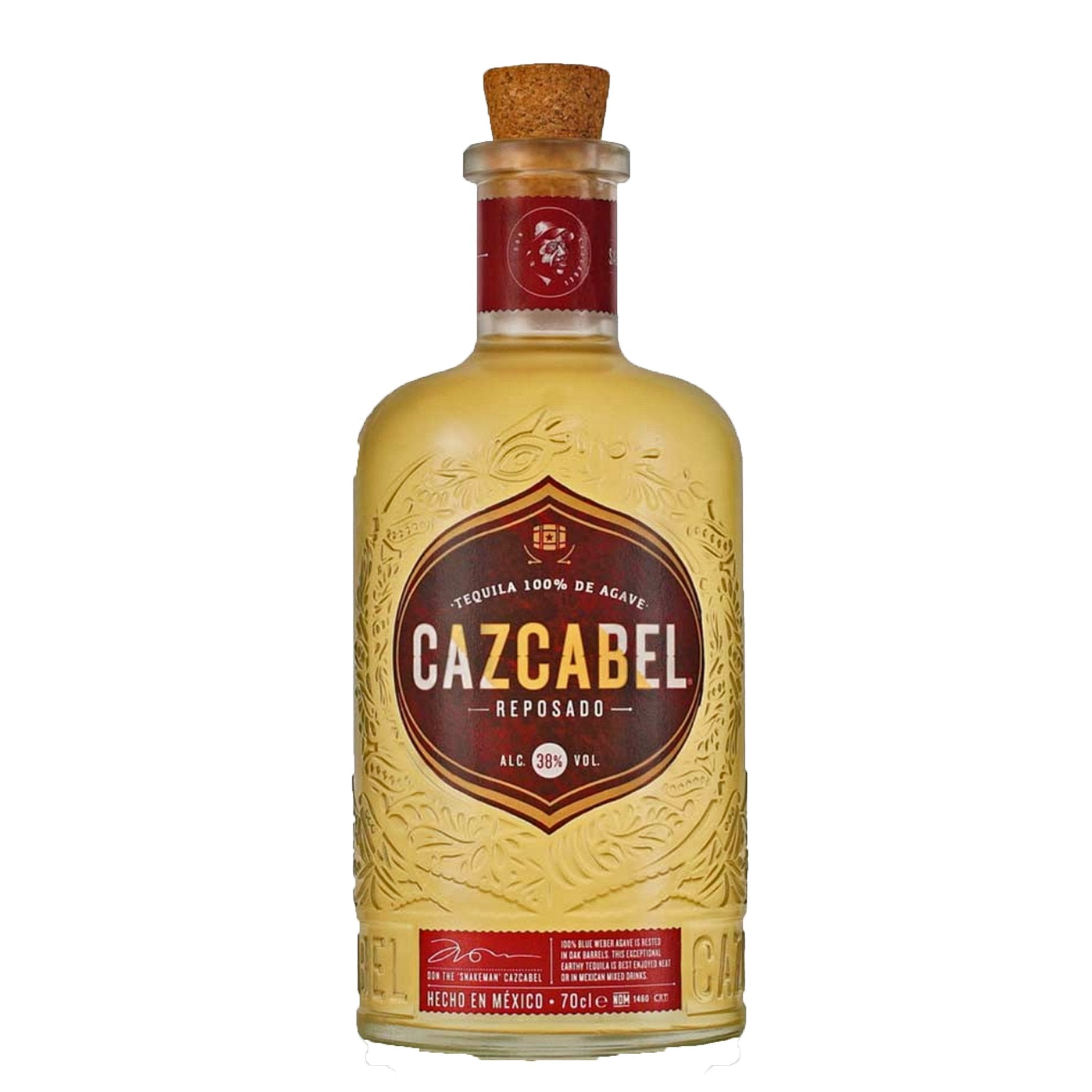 Cazcabel Tequila Reposdao 70cl, Alcoholic Beverages by Drinks Shop