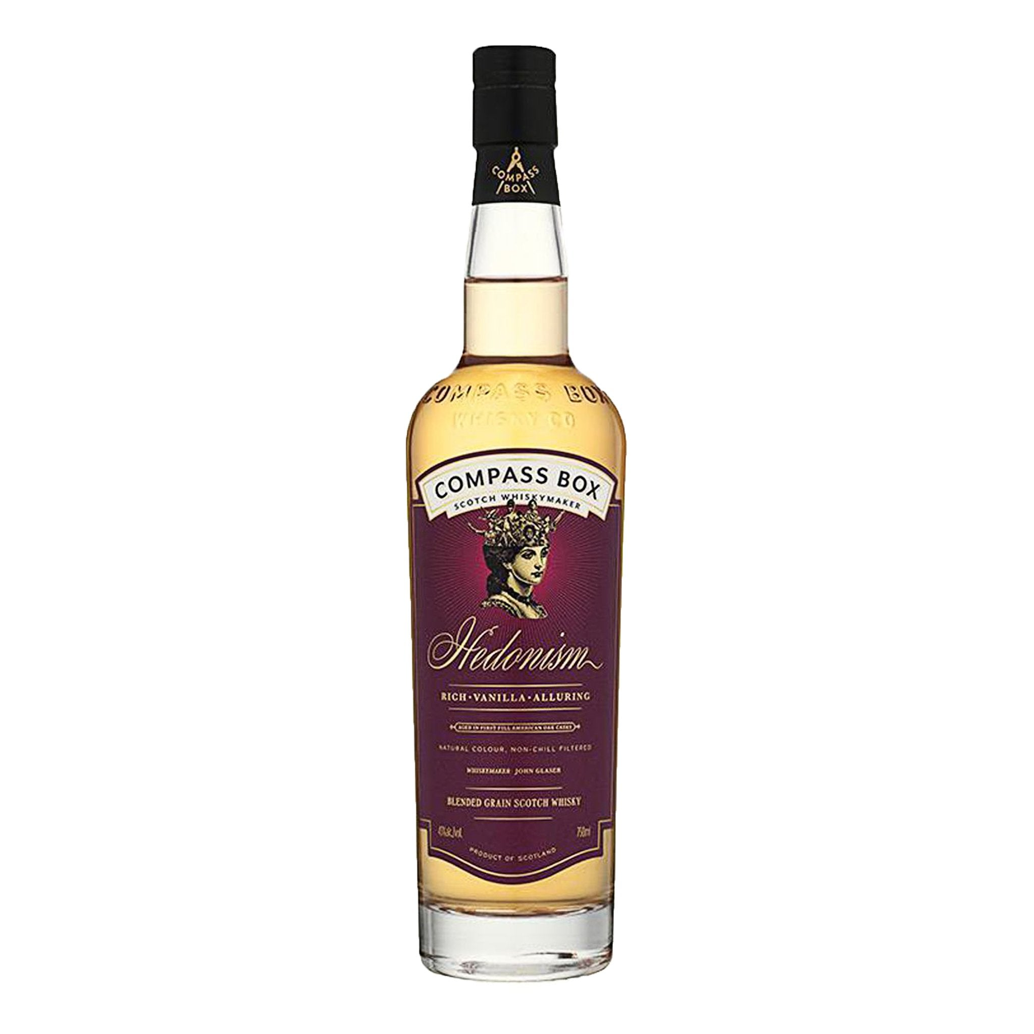 Compass Box Hedonism Blended Grain Scotch Whisky 70cl, Food, Beverages & Tobacco by Drinks Shop
