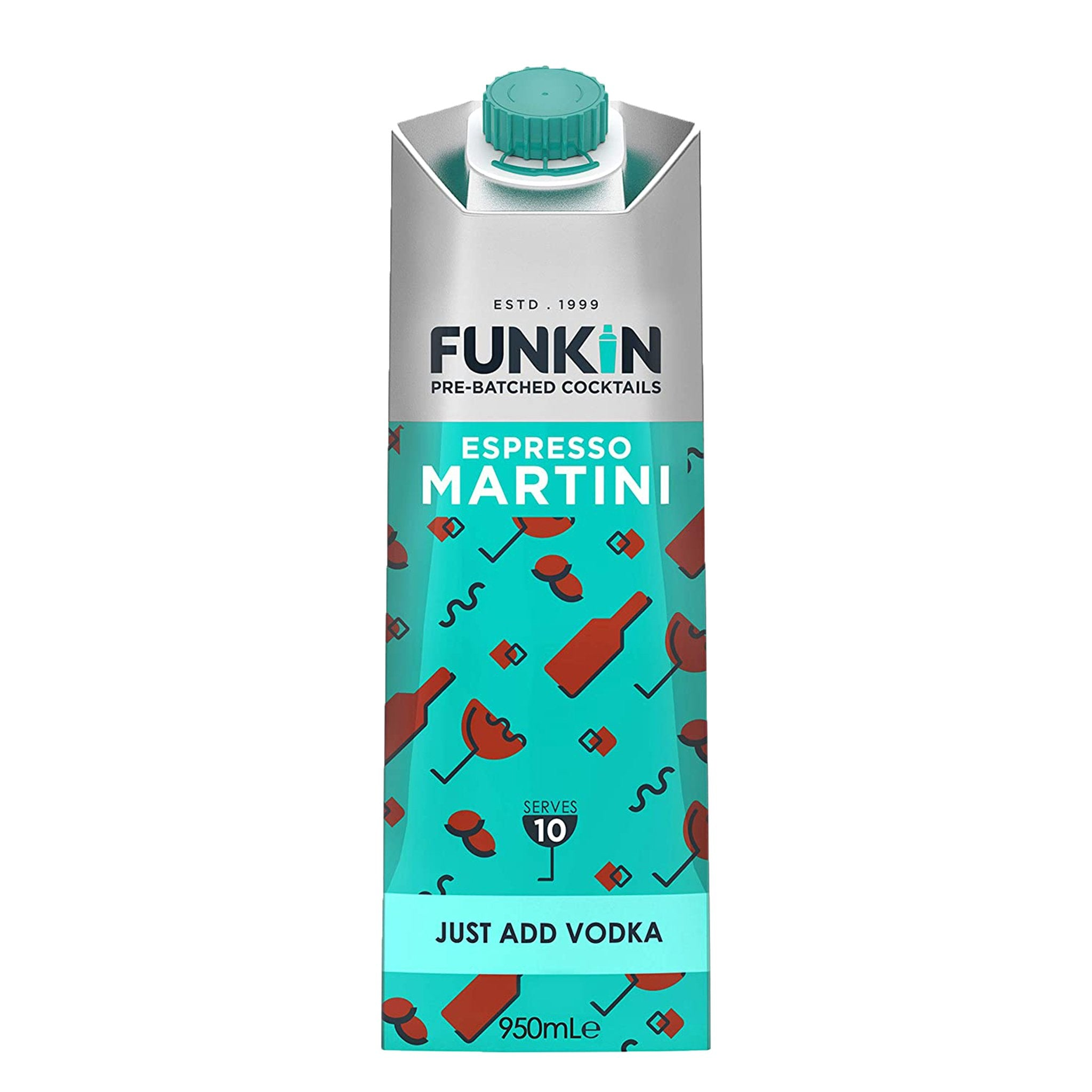 Funkin Pre-Batched Cocktails Espresso Martini 1L, Cocktail Mixes by Drinks Shop