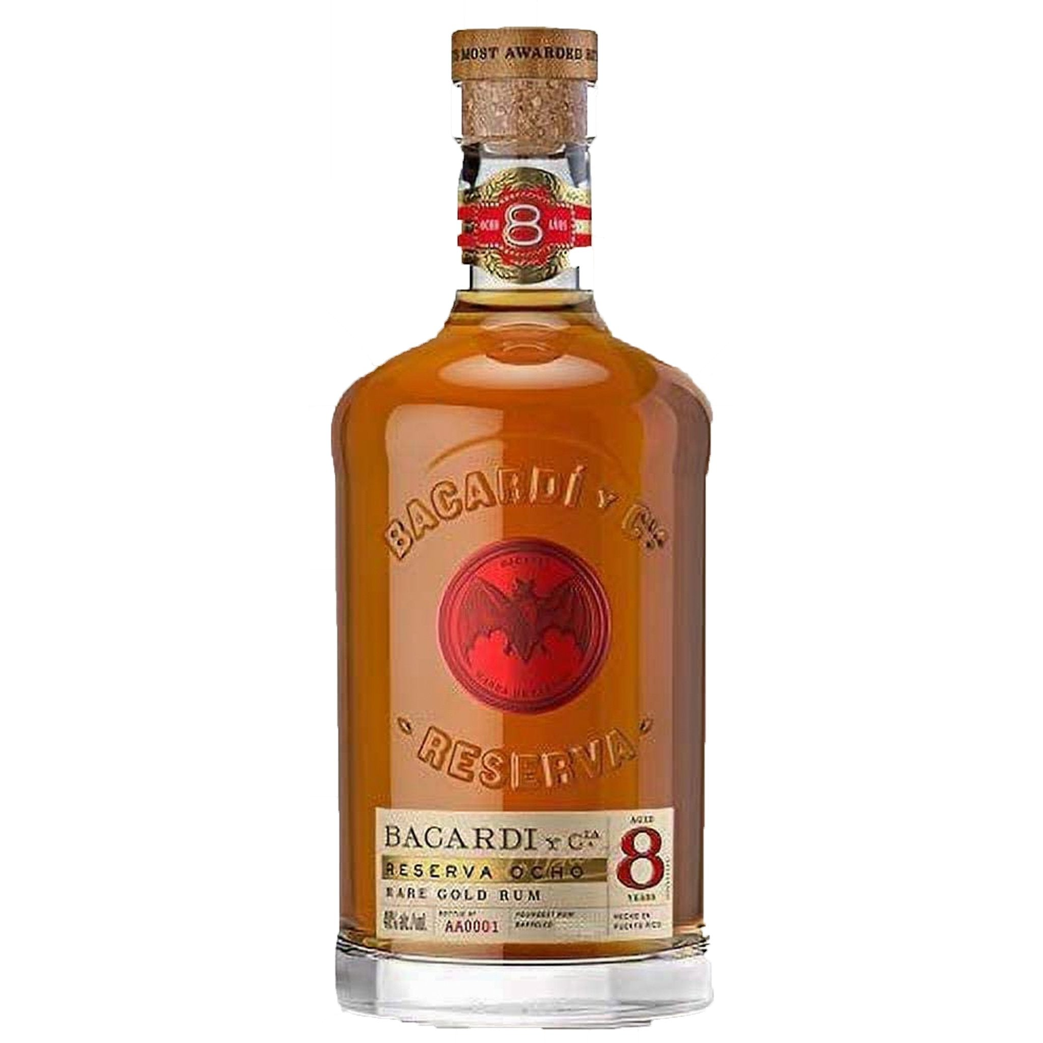 Bacardí Reserva Ocho Rare Gold Rum 70cl, Alcoholic Beverages by Drinks Shop