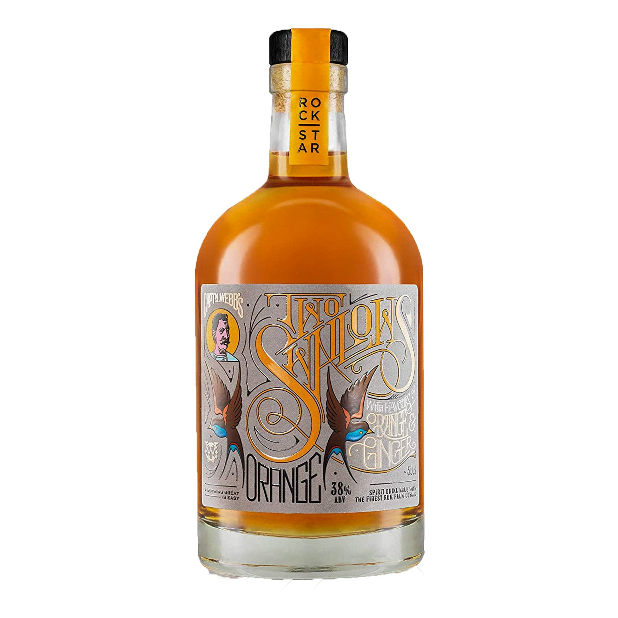 Two Swallows Orange & Ginger Rum 50cl, Rum by Drinks Shop