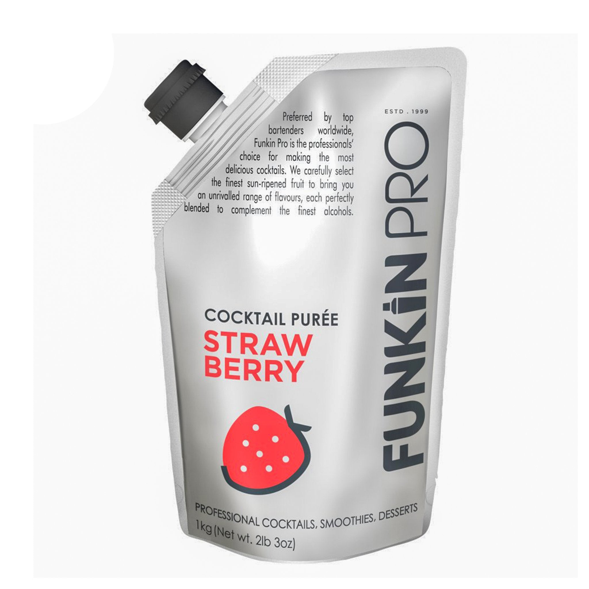 Funkin Pro Cocktail Purée Strawberry1kg, Alcoholic Beverages by Drinks Shop