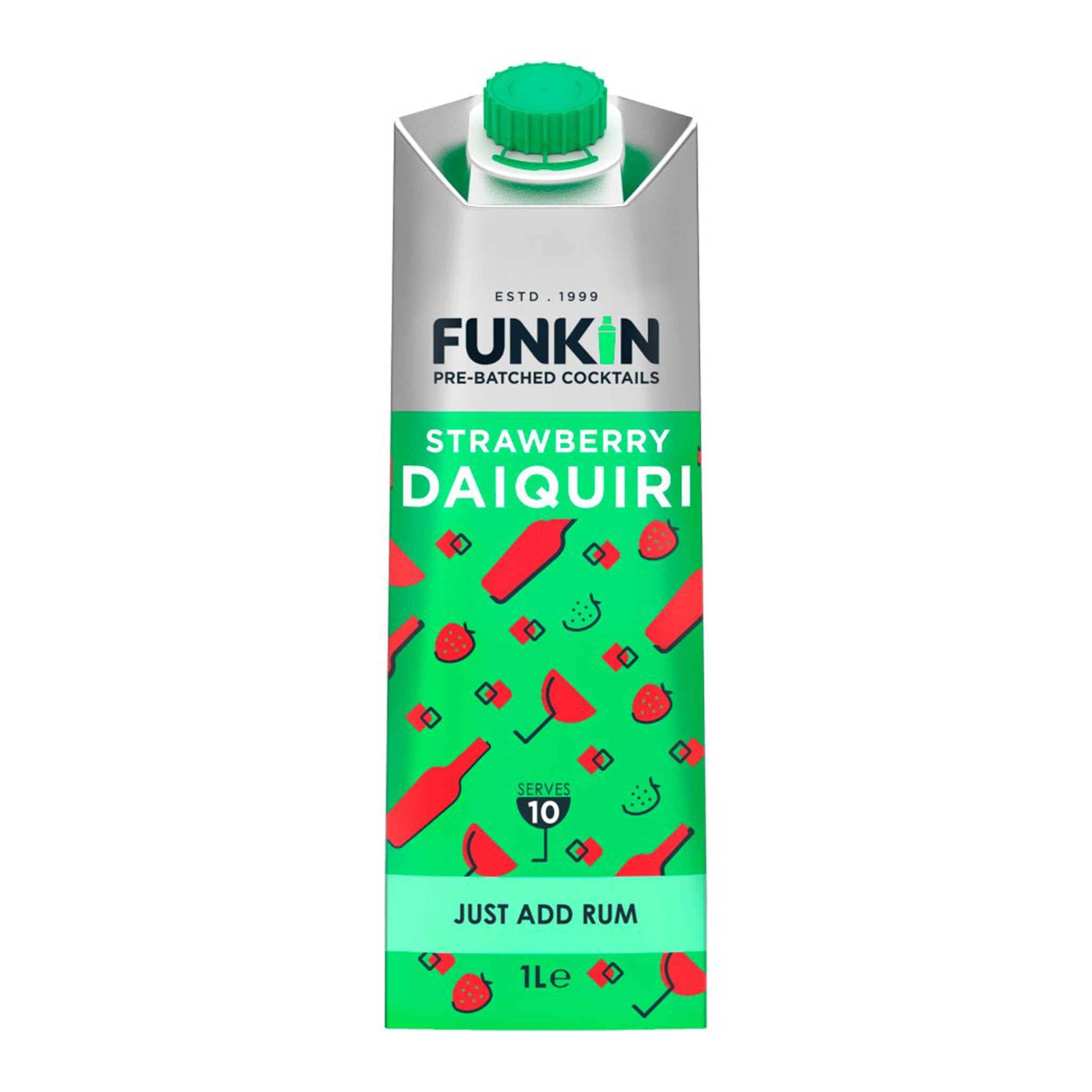 Funkin Pre-Batched Cocktails Strawberry Daiquiri 1L, Cocktail Mixes by Drinks Shop