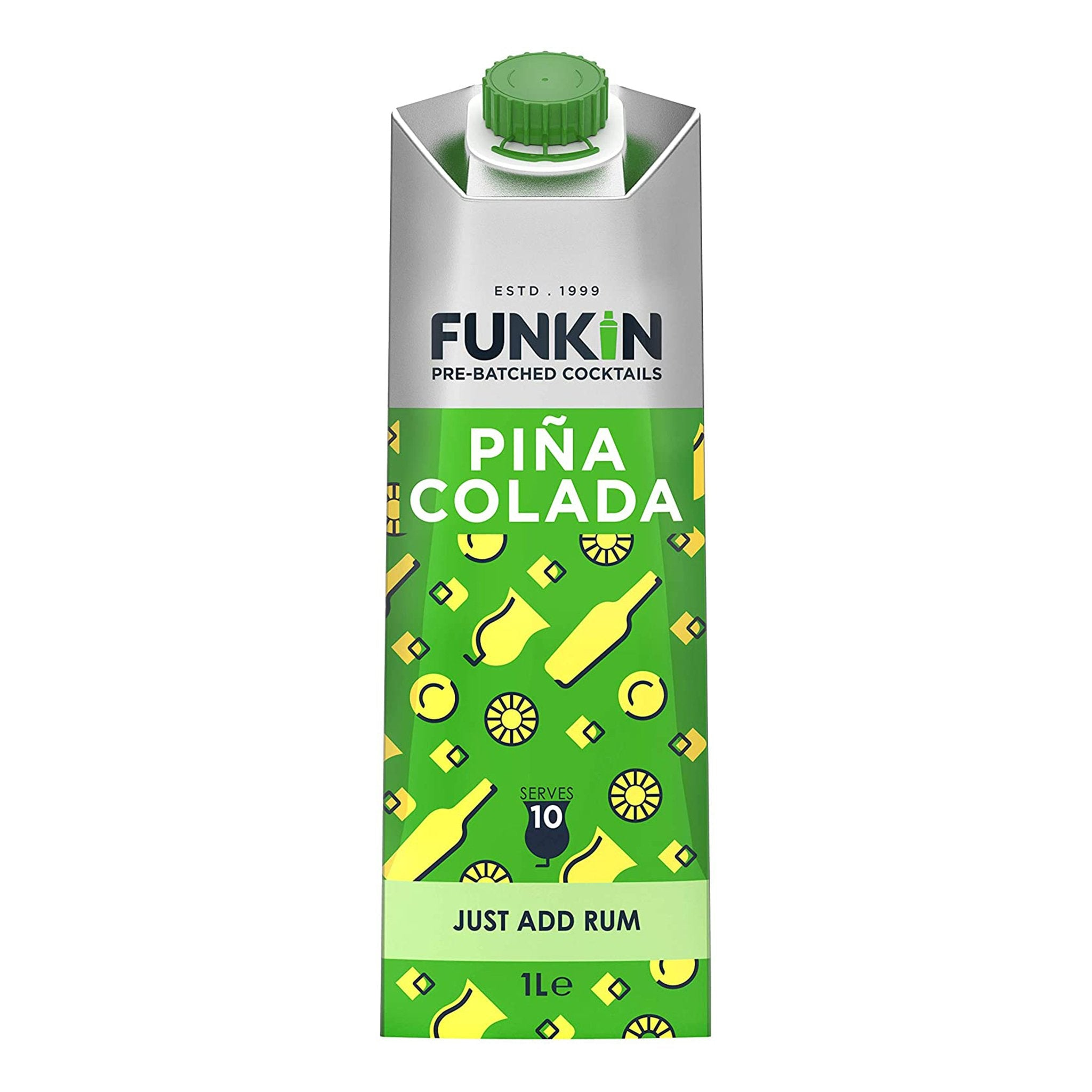 Funkin Pre-Batched Cocktails Piña Colada 1L, Cocktail Mixes by Drinks Shop