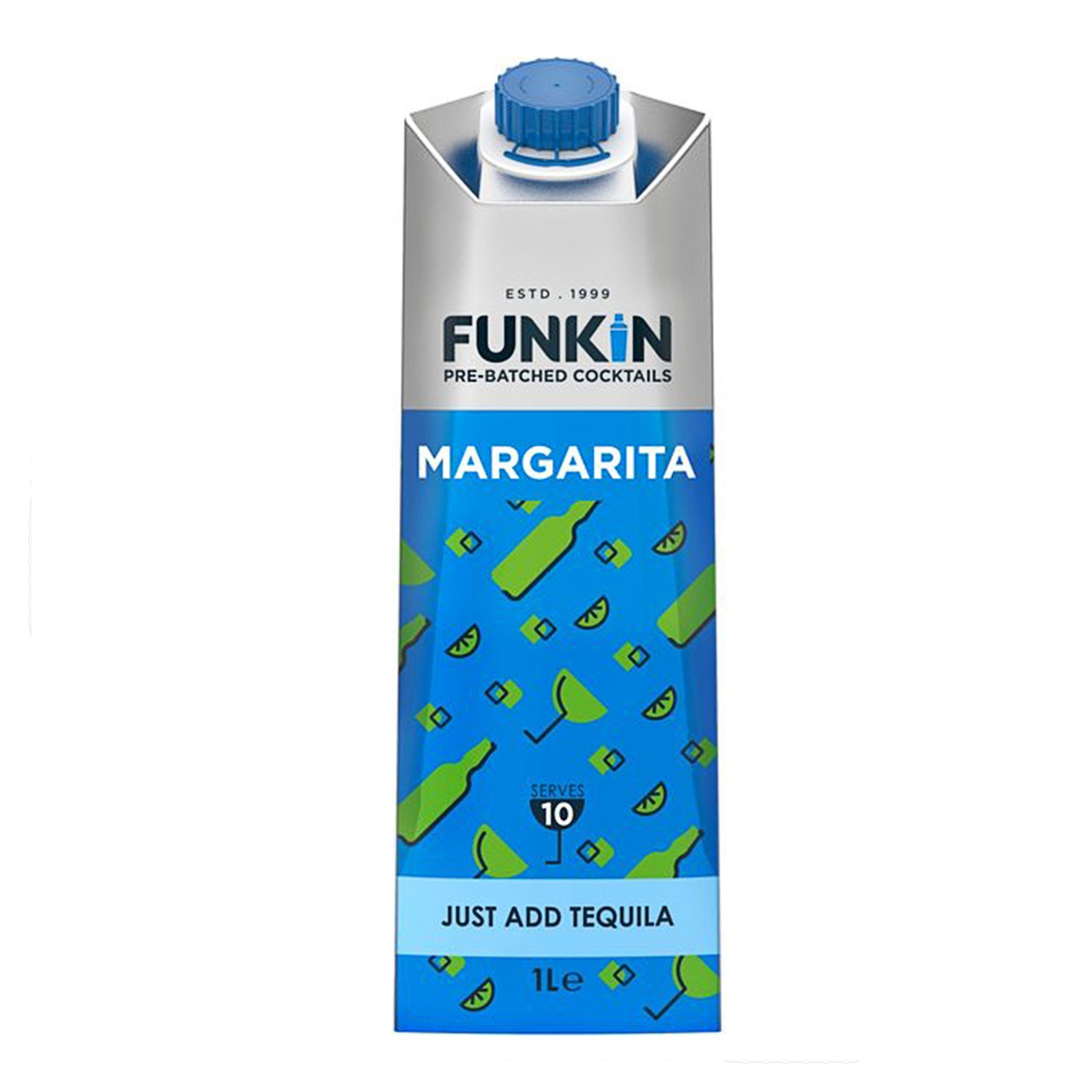Funkin Margarita Pre-Batch Cocktails 1L, Cocktail Mixes by Drinks Shop