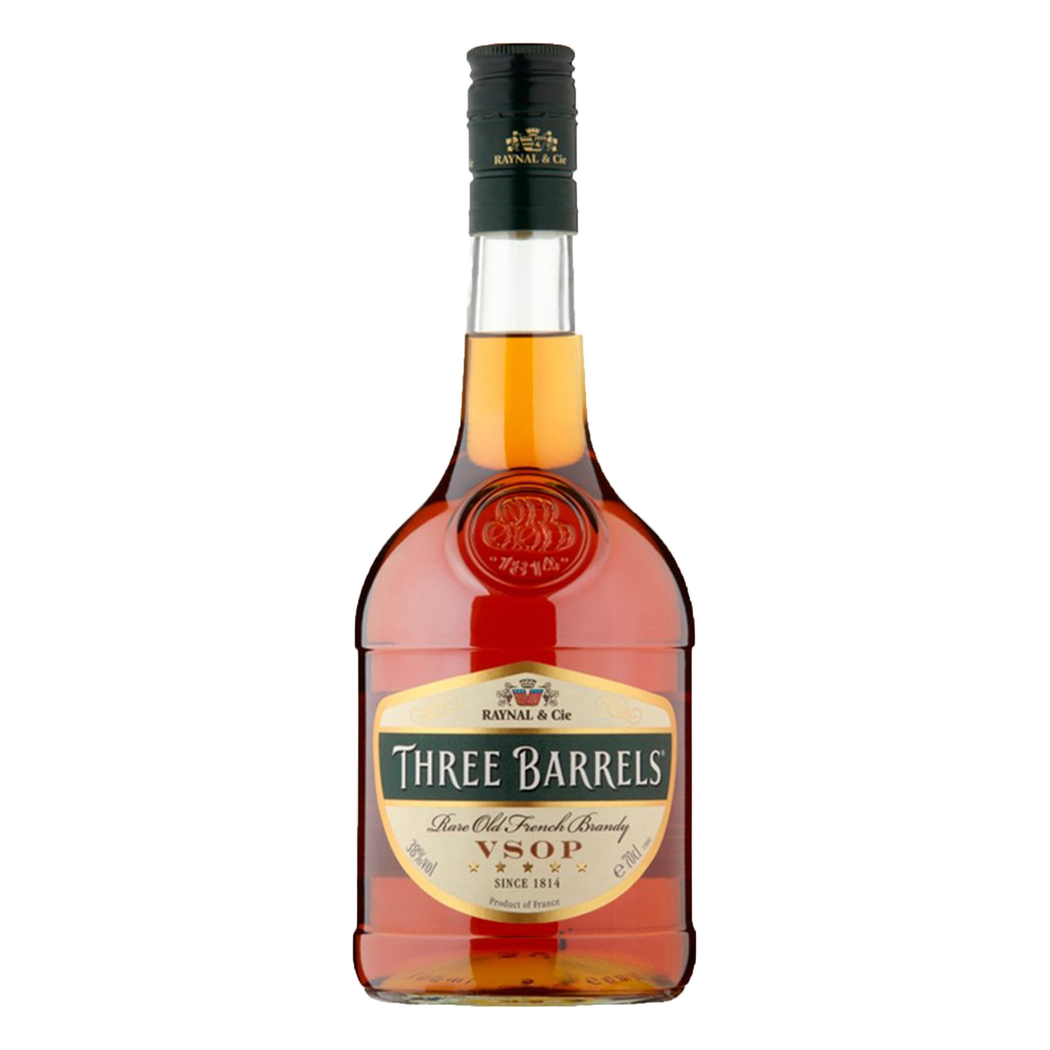 Three Barrels Rare Old French Brandy VSOP 70cl, Alcoholic Beverages by Drinks Shop