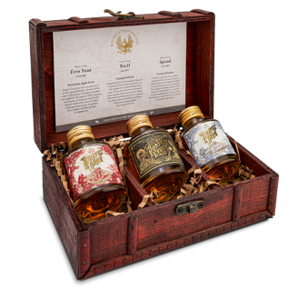 Rum Miniatures Gift Chest   The Pirate Range by  Drinks Shop