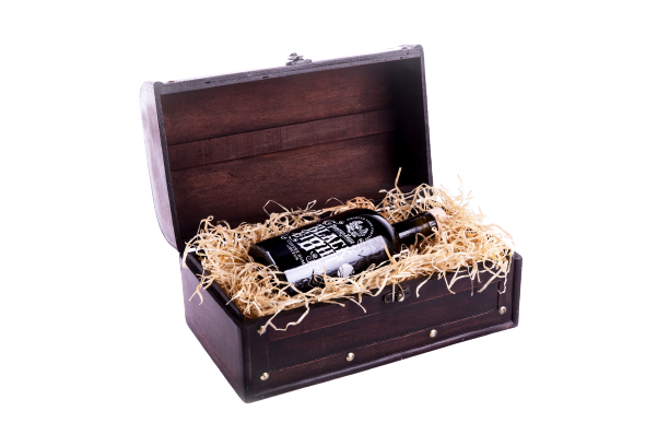 Black Ei8ht Rum Gift Chest   The Pirate Range by  Drinks Shop