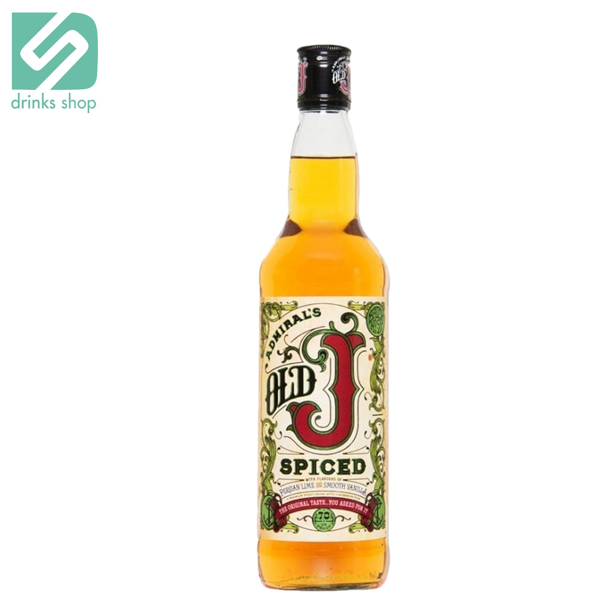 Admirals Old J Spiced 70cl, Rum - Image 2