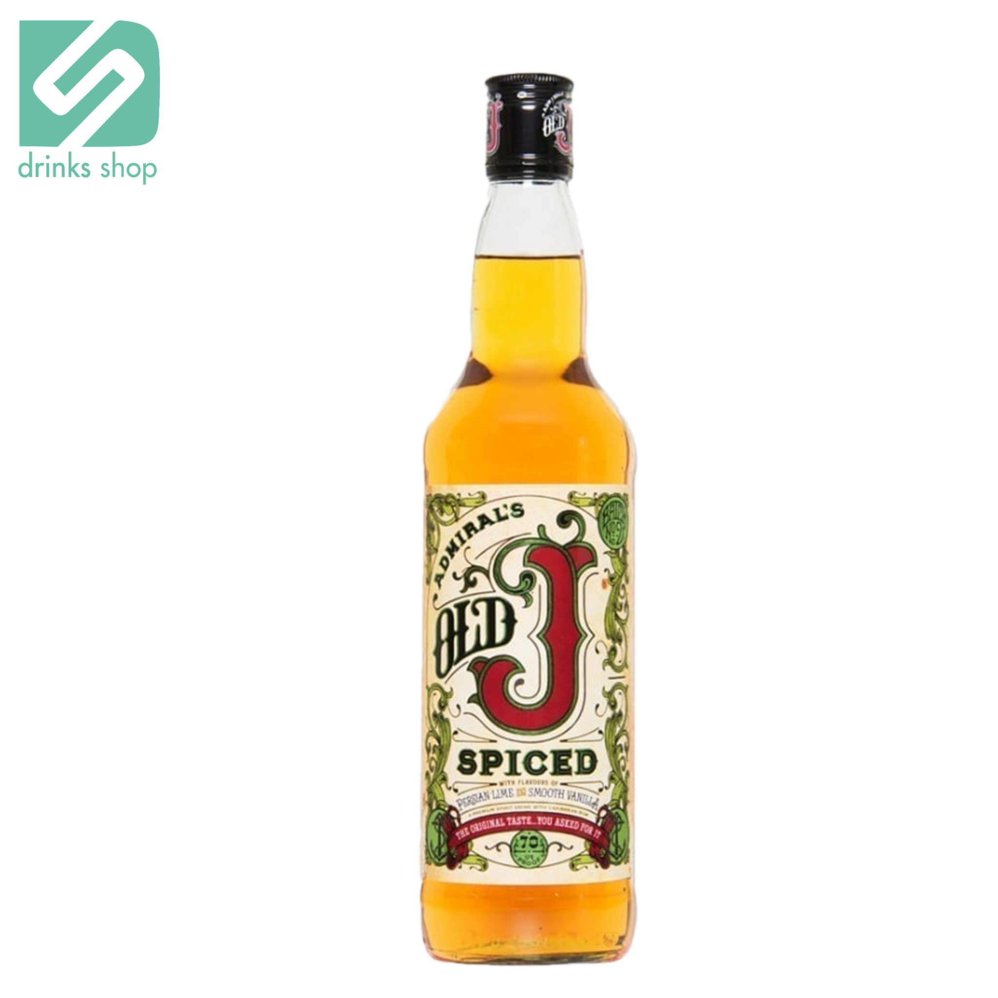Admirals Old J Spiced 70cl, Rum - Image 1