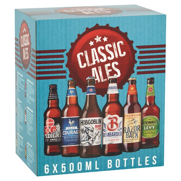 Classic Ales 6 x 500ml, Beer by Drinks Shop