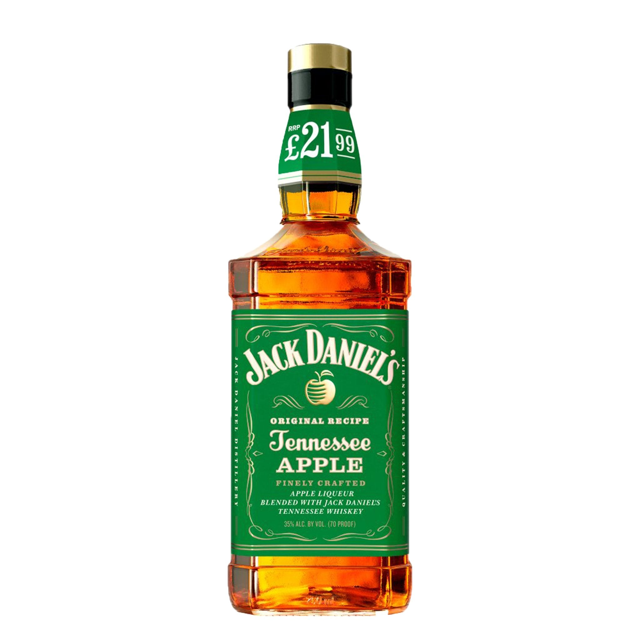 Jack Daniel's Tennessee Whiskey Blended with Apple Liqueur 70cl PMP, Alcoholic Beverages by Drinks Shop