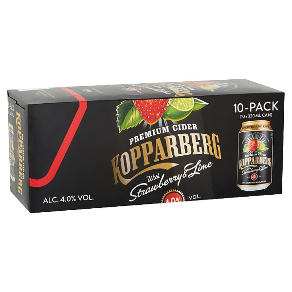 Kopparberg Premium Cider with Strawberry & Lime 10 x 330ml by Drinks Shop