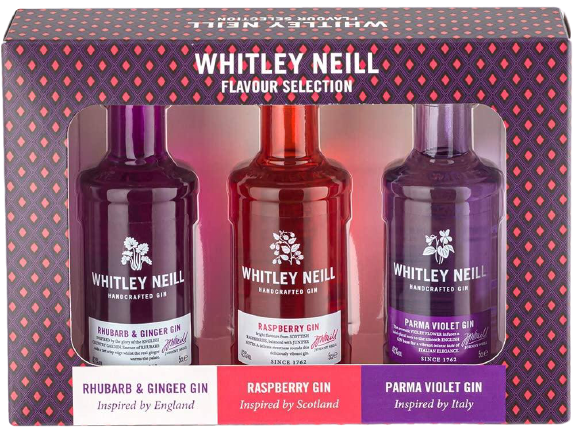 Whitley Neill Tasting Pack - England, Scotland and Italy Edition by Drinks Shop