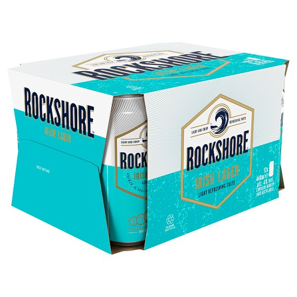 Rockshore Lager, 12 x 440ml Can Case of 2, Beer by Drinks Shop
