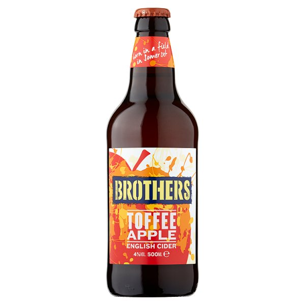 Brothers Toffee Apple English Cider 500ml Case of 8, Alcoholic Beverages by Drinks Shop