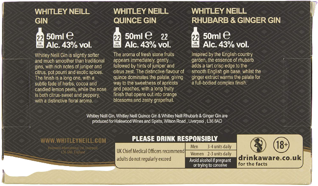 Whitley Neill Tasting Pack - England, South Africa and Persia Edition, Gin - Image 3