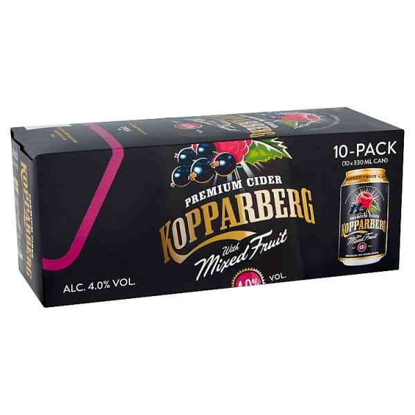 Kopparberg Premium Cider with Mixed Fruit 10 x 330ml by Drinks Shop