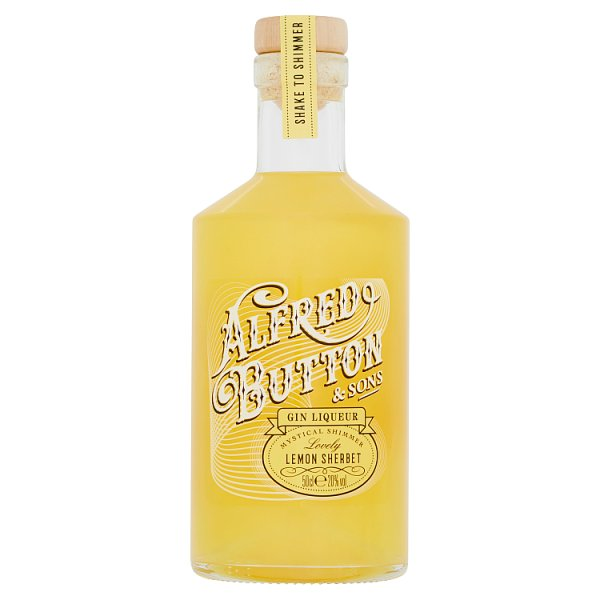 Alfred Button & Sons Gin Liqueur Lovely Lemon Sherbet Gin, Alcoholic Beverages by Drinks Shop