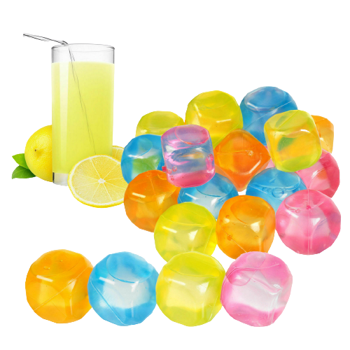 Reusable Multicoloured Ice Cubes (12 Pack), Beverage Chilling Cubes & Sticks - Image 1