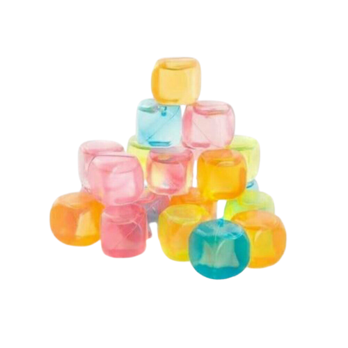 Reusable Multicoloured Ice Cubes (12 Pack), Beverage Chilling Cubes & Sticks - Image 2