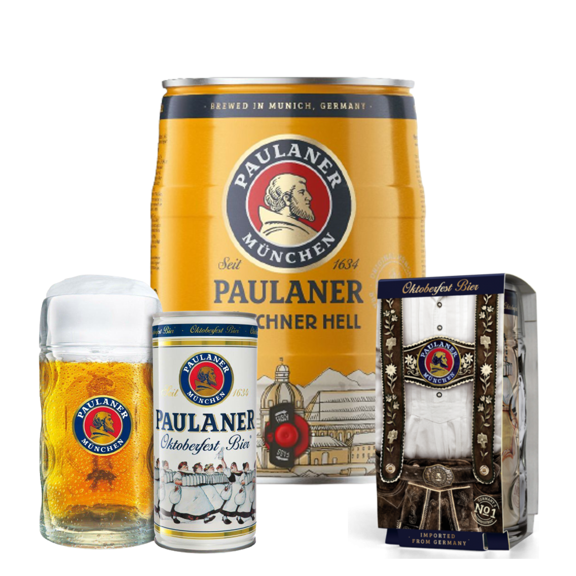 Paulaner Keg with 2 Can & Steins, Beer by Drinks Shop