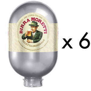 6 x Birra Moretti 8L Kegs - DrinksShop.co.uk