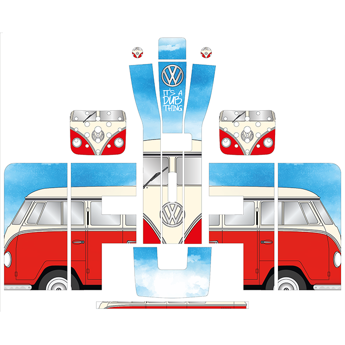 VW Camper Van Style Perfect Draft Wrap, Decorative Stickers by Drinks Shop