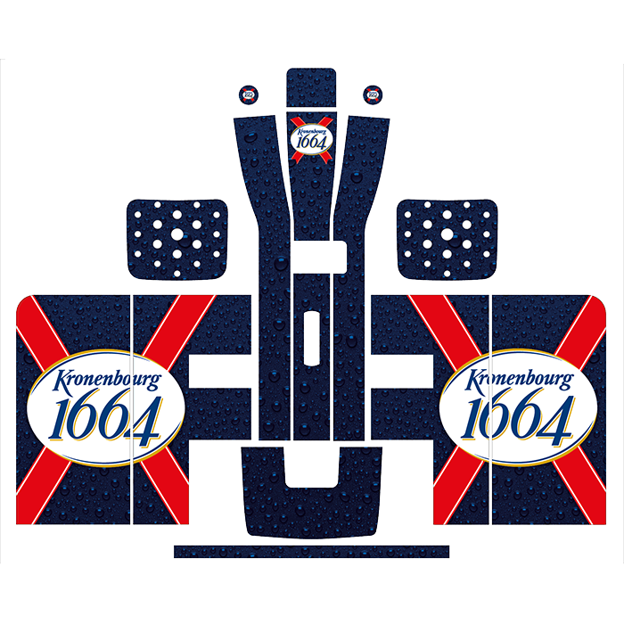Kronenbourg Style Perfect Draft Wrap, Decorative Stickers by Drinks Shop