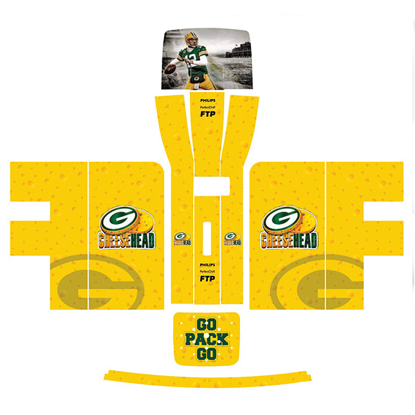 Green Bay Packers NFL Cheesehead Perfect Draft Skin by Drinks Shop