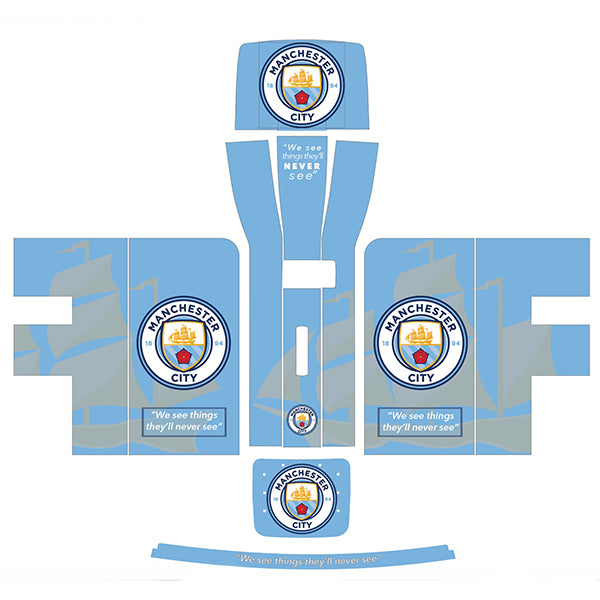 Manchester City Quote Blue + Grey Perfect Draft Skin by Drinks Shop