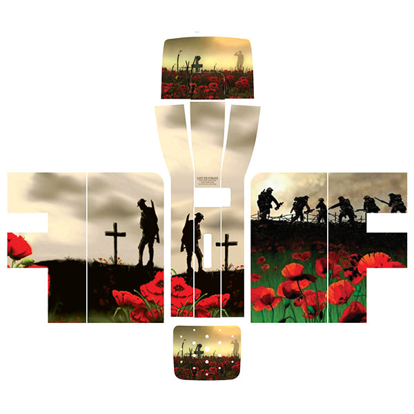 Remembrance Soldiers and Poppies Perfect Draft Skin by Drinks Shop