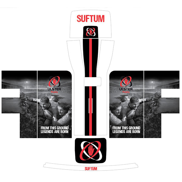 Ulster Rugby White, Black + Red Perfect Draft Skin by Drinks Shop