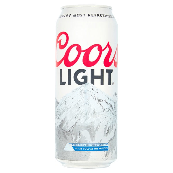 Coors Light Lager 4 x 500ml Case of 6 by Drinks Shop