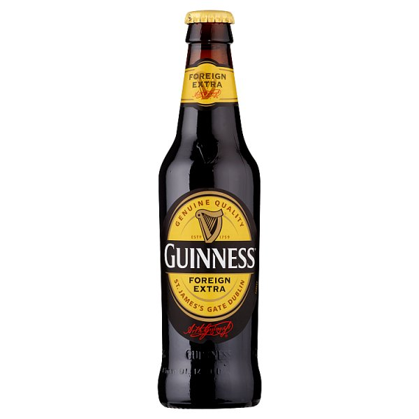 Guinness Foreign Extra Stout Beer 24 x 330ml Bottle - Case of 24 by Drinks Shop