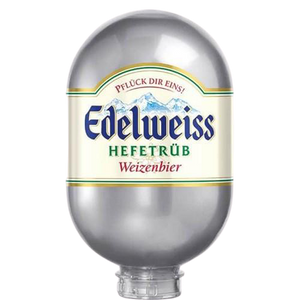 Edelweiss Hefetrüb Keg 8L - For Blade Machine - DrinksShop.co.uk