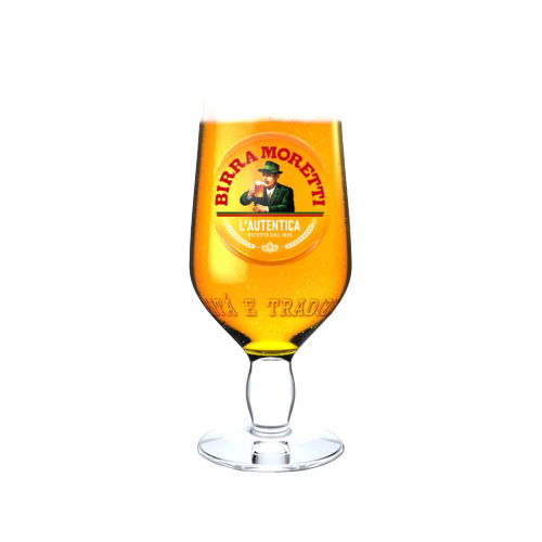 Birra Moretti Pint Glasses (Pack of 2) by Drinks Shop
