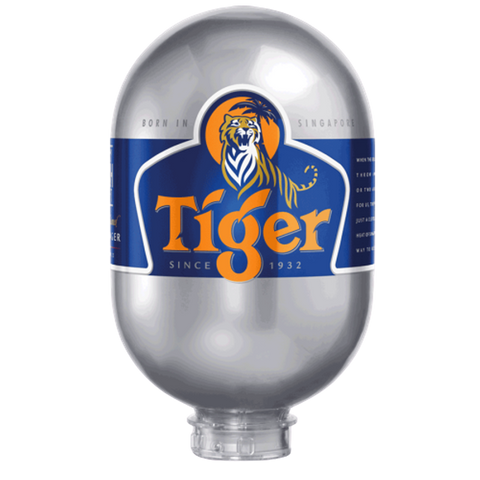 Tiger Beer 8L Keg for Blade Machine - DrinksShop.co.uk