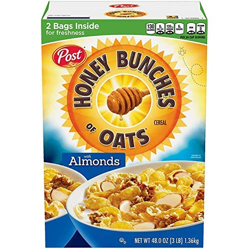Post Honey Bunches of Oats with Crispy Almonds 2 bags Inside For Freshness-SET OF 3