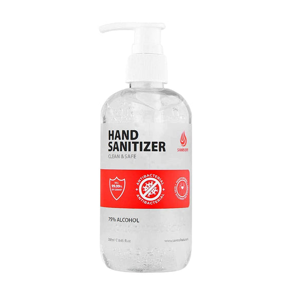 Sanisoft Rinse-Free Antibacterial Hand Sanitizer Gel with Pump (8.45 Fl Ounce, 1 Pack)