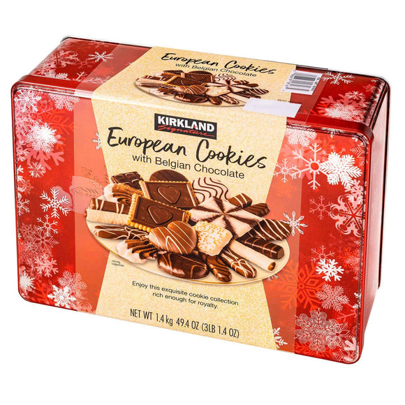 Kirkland Signature European Cookies with Belgian Chocolate, 49.4 Ounce - PACK OF 3