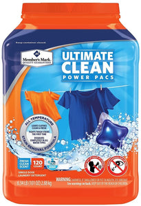 Member's Mark Power Pacs Laundry Detergent - Active Clean (130 ct.)