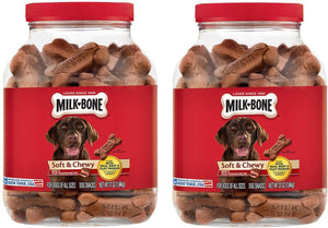 Milk-Bone Soft & Chewy Beef & Filet Mignon Recipe Dog Snacks (37 oz.) Pack 2