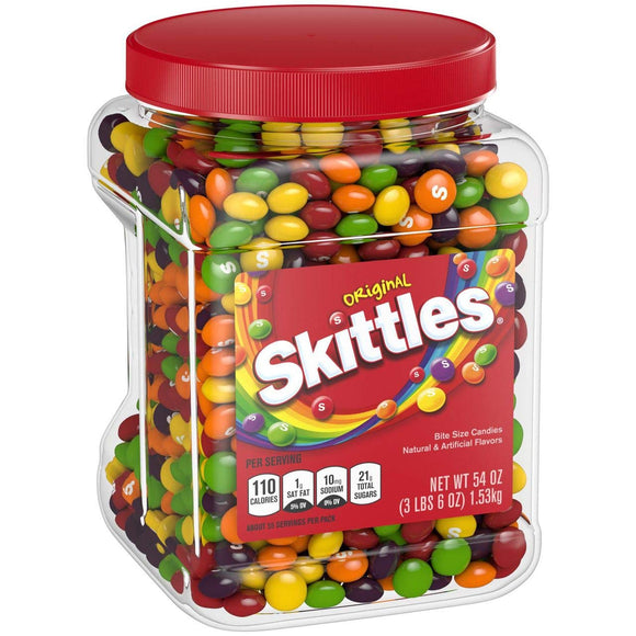 Product of Skittles Original Fruity Candy Jar, 54 oz.