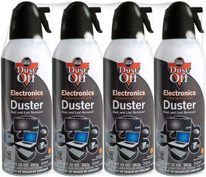 Dust-Off Disposable Compressed Gas Duster kcFgcZ, 4Pack (Can 10oz.)