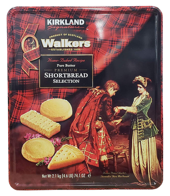 Kirkland Signature Walkers Premium Shortbread Selection Gift Tin, 4.6 Pound, Packaging May Vary