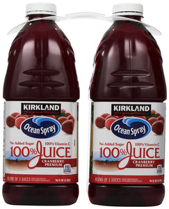Kirkland Signature Ocean Spray Cranberry Premium Juice, 192 Fluid Ounce